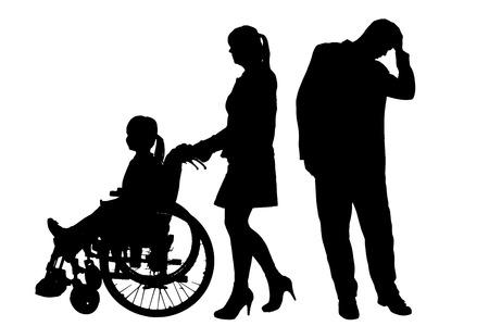 Vector silhouette of family on white background. 版權商用圖片 - 27937311
