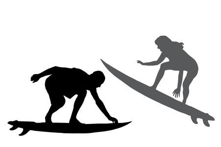 サーフィンする人のシルエット。 写真素材 - 27978880