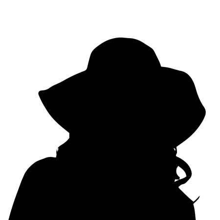 anonym: Vector silhouette of a woman on a white background.