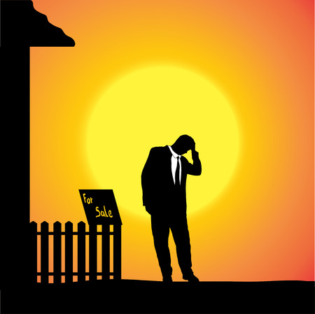 seizure: silhouette of man who are in front of house.