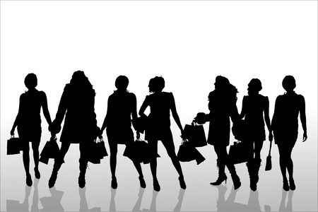 Vector silhouette of  people   Vector
