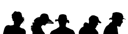 anonym: Vector silhouette of a people on a white background. Illustration