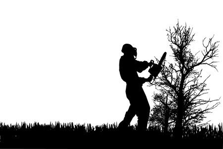 Vector Silhouette von Menschen, die im Garten zu arbeiten. Standard-Bild - 29241836