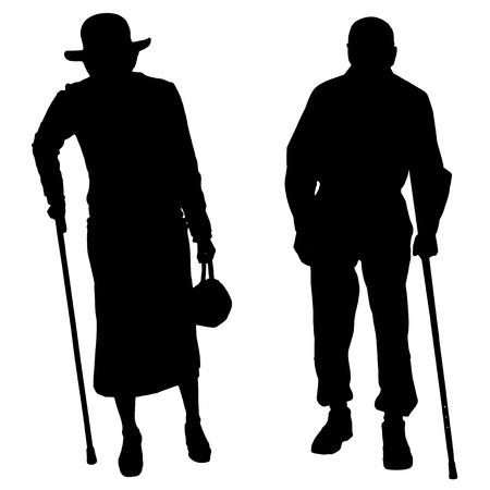 silueta masculina: Vector silueta de pareja en un fondo blanco.