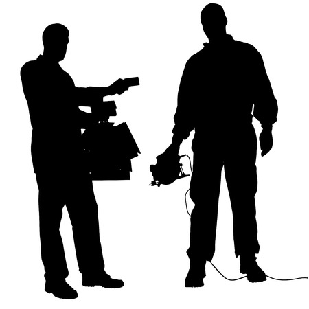 vector silhouette of a man who gives a bribe. Vector