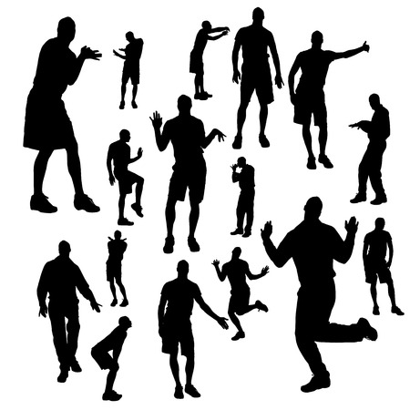 Vector silhouette of a man who is gay on a white background.