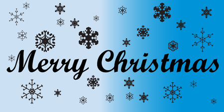 Vector picture with a Christmas theme on a blue background. Vector