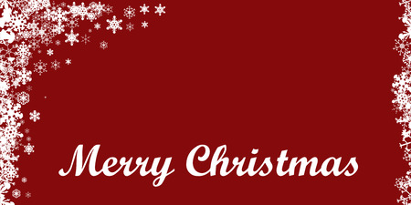 Vector picture with a Christmas theme on a red background. Vector
