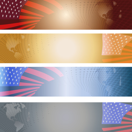 Vector image of the American flag as a background. Vector