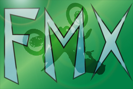 fmx: Vector silhouette of a motocross who jumps. Illustration