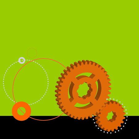 Vector illustration background, which is colored with toothed wheel. Vector