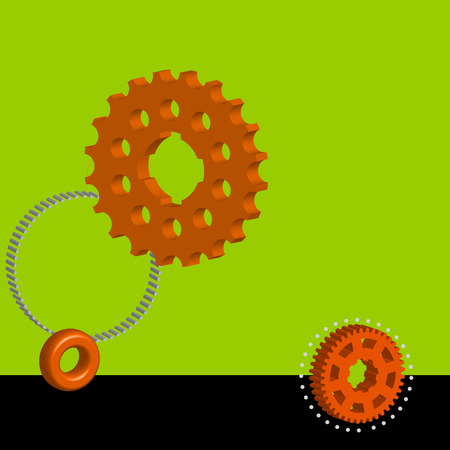 toothed: Vector illustration background, which is colored with toothed wheel.