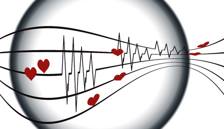 ecg monitoring: Vector background with life line on white background.