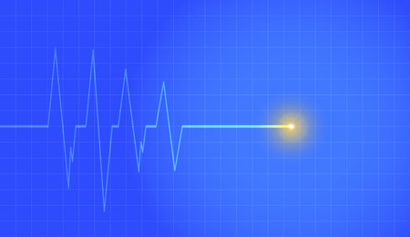 heart monitor: Vector background with life line on blue background.