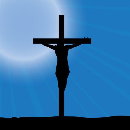 israel people: Vector illustration of Jesus on the cross.