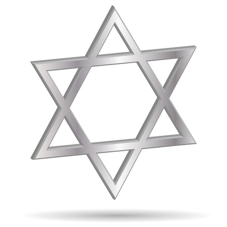 Vector image of a Jewish symbol on white background. Vector