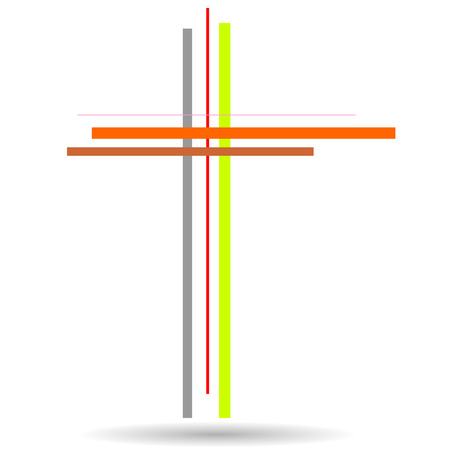 easter cross: Vector illustration of a cross on a white background.