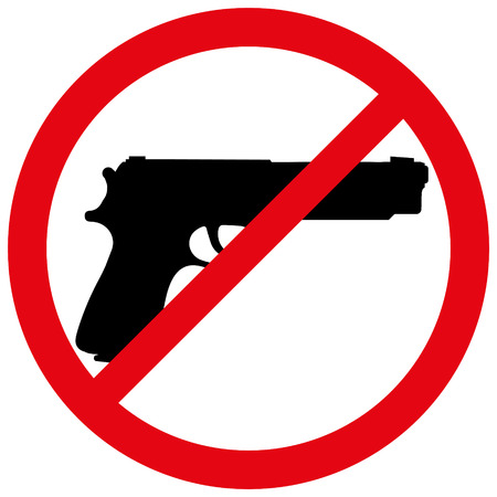 Vector illustration of a prohibition of weapon. Vector