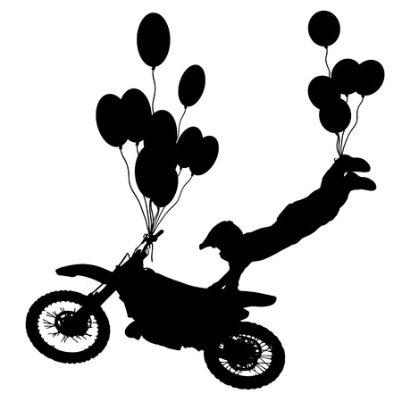fmx: Vector silhouettes of people on black background. Illustration