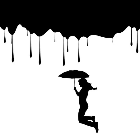 Vector silhouettes of people on a white background. Vector