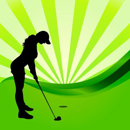 silhouetten van de golfer op een witte achtergrond.