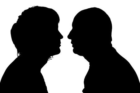 profil: sylwetka człowieka na białym tle. Ilustracja
