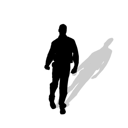 nice guy: silhouette of man on white background.