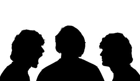 rostro hombre: Perfil de la cara del vector silueta del hombre sobre un fondo blanco.