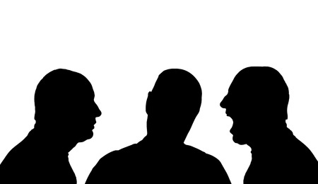 profile silhouette: Vector silhouette profile face man on a white background. Illustration