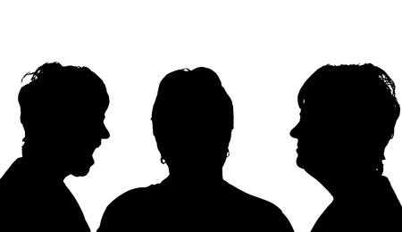 profil: Vector sylwetka profil twarzy kobiety na białym tle.