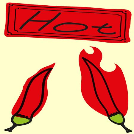 hot pepper: Vector illustration pop art style with hot pepper. Illustration