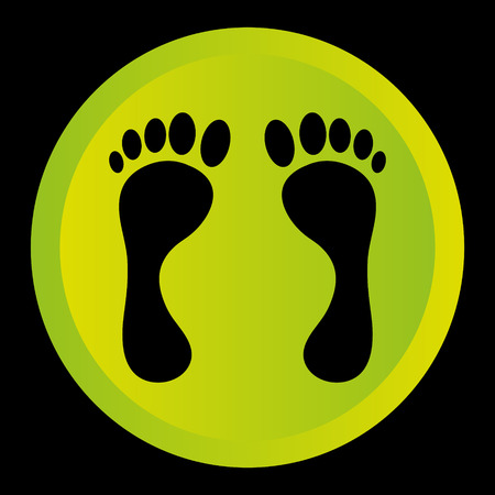 black foot: black foot logo on green circle background
