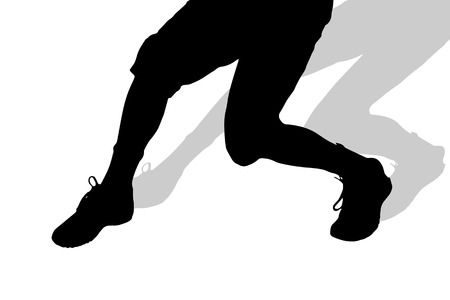 nice guy: Vector silhouette of male feet on a white background. Illustration