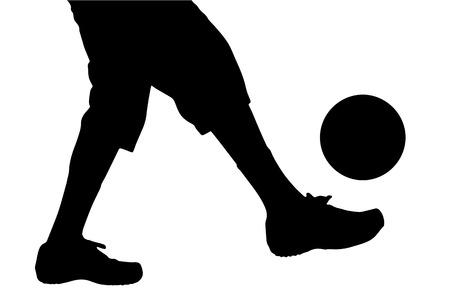 piernas hombre: Vector silueta de un hombre piernas jugando al f�tbol. Vectores