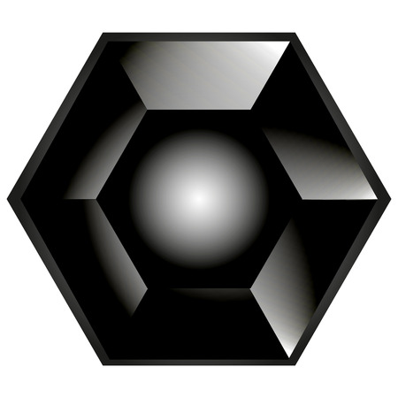 octagon: Low poly gray octagon on white background