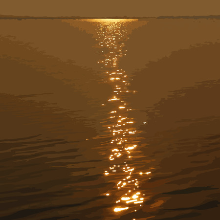 water reflection: Water with the reflection of the sun Illustration