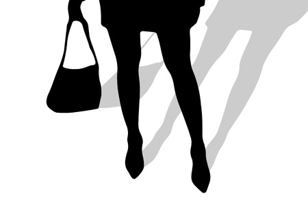 nice body: Vector silhouette of female feet on a white background.
