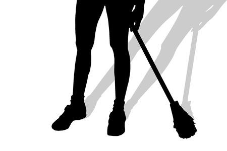 dirty feet: Vector silhouette de pieds f�minins sur un fond blanc.