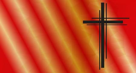 crucifix: modern design crucifix on a colored background