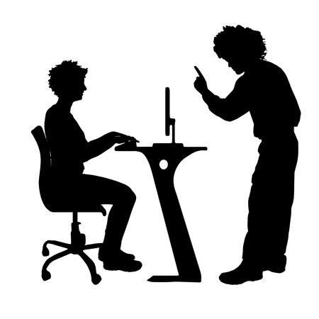 Vector silhouette de couple qui plaident contre un fond blanc. Banque d'images - 42688131