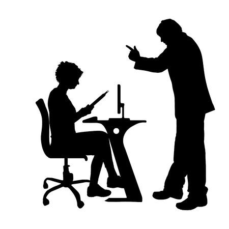 Vector silhouette de couple qui plaident contre un fond blanc. Banque d'images - 42688428