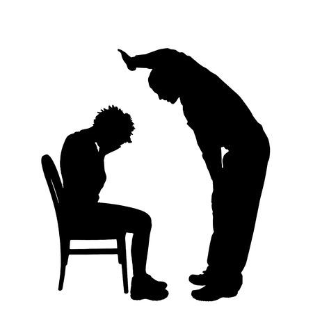 Vector silhouette de couple qui plaident contre un fond blanc. Banque d'images - 42688550