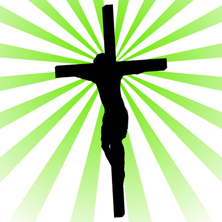 crucifix: Crucifix with Jesus on a colored background
