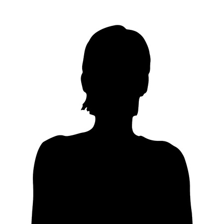 sexy black woman: Vector silhouette of a woman on a white background.
