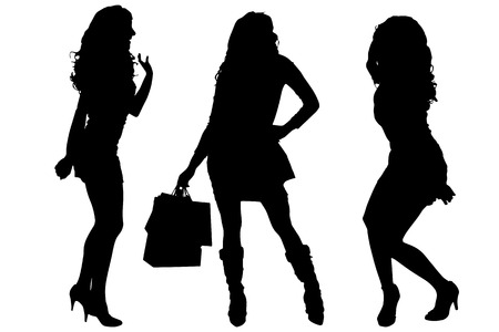 sexy women: Vector silhouette of a women on a white background.