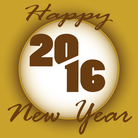 brown: brown vector illustration 2016 Happy New Year