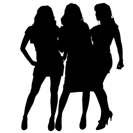 nice body: Vector women silhouette on a white background.