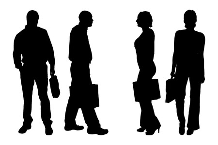 fellowship: Vector silhouette of people on a white background. Illustration