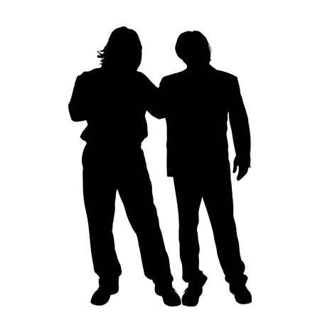 men silhouette: Vector men silhouette on a white background.
