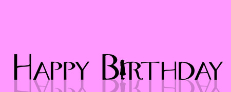 card design: Vector illustration with the words happy birthday.